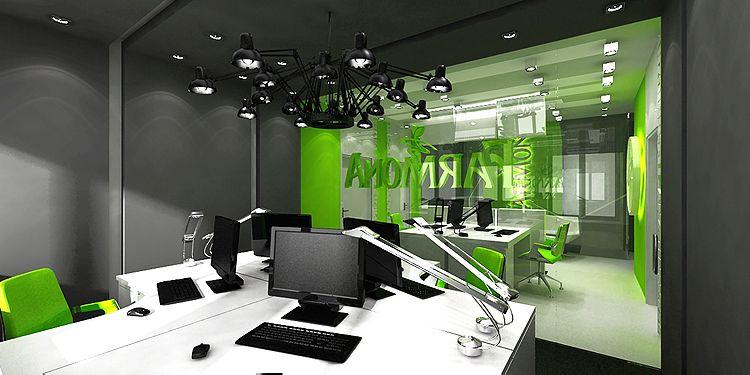 projekty wnętrza biurowego - open space
