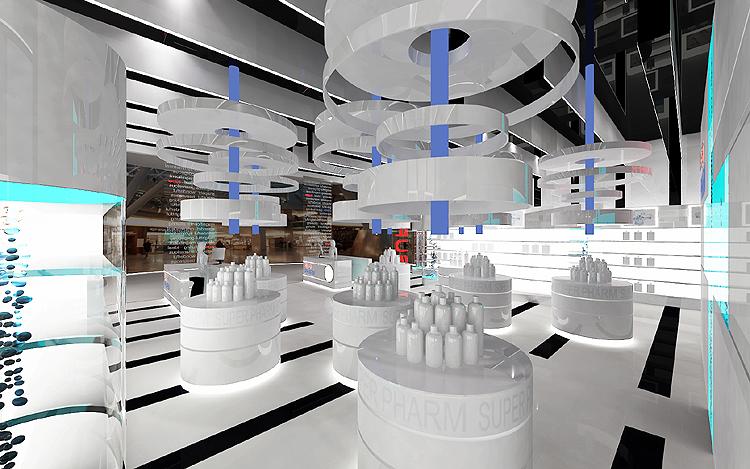luksusowe wnętrze perfumerii, drogerii
