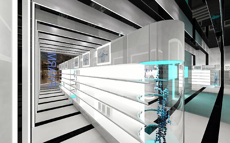 ekskluzywne wnętrze sklepu - projekt architektury wnętrz
