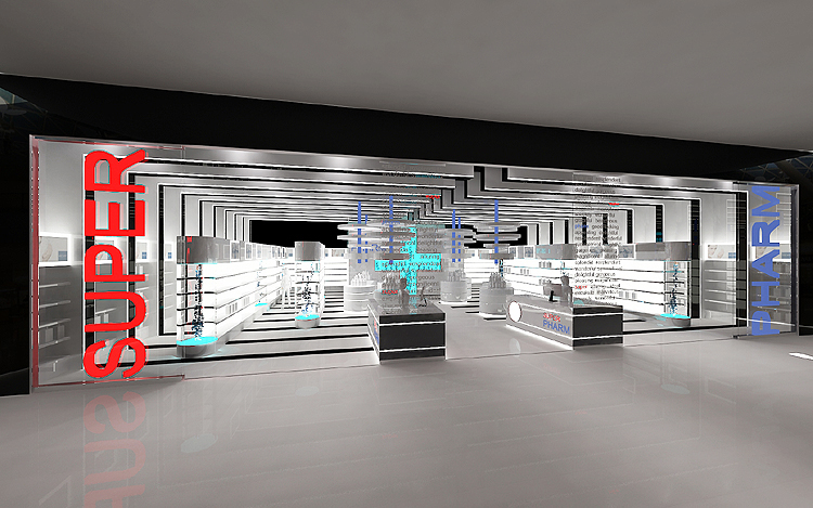 nowoczesne wnętrze sklepu kosmetycznego