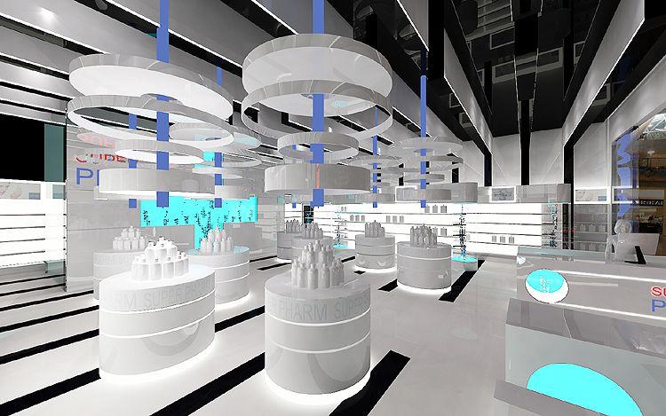 nowoczesne projekty wnętrza drogerii, perfumerii