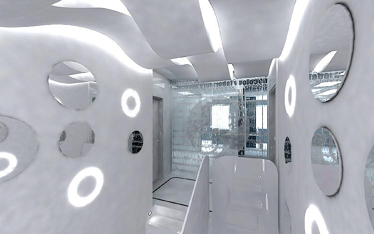 projektanci wnętrz nowoczesnej kliniki