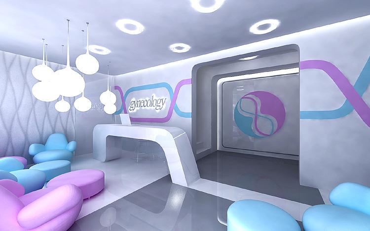 projektowanie wnętrza centrum ginekologicznego