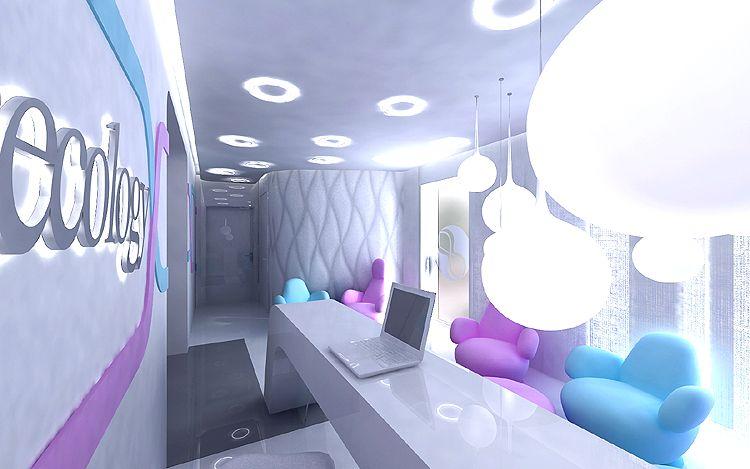 projektowanie wnętrza nowoczesnej kliniki