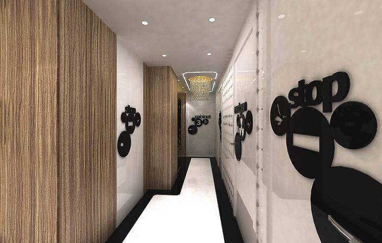 projekt aranzacja wnetrze gabinet recepcja klinika stomatologia design
