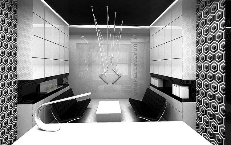 designerskie wnetrze biurowe projekt aranżacja