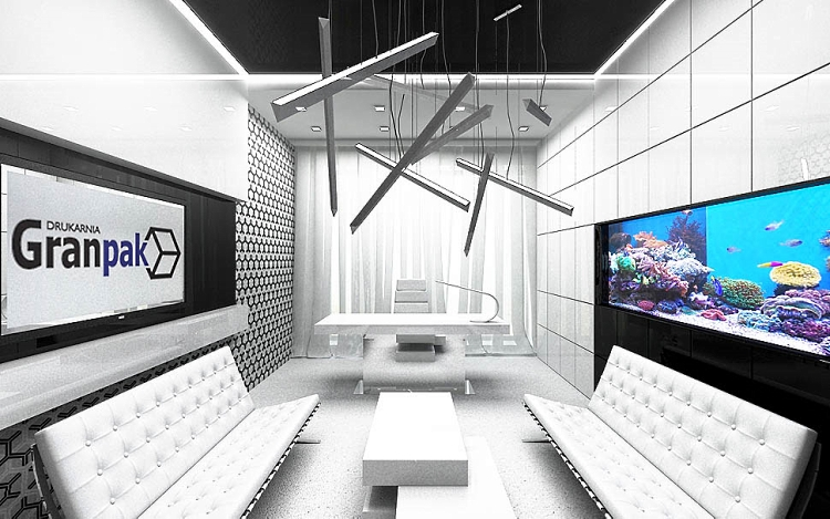 designerski gabinet projekt wnętrza architektura