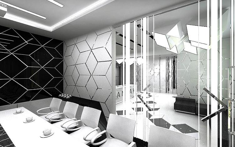 wnętrza biurowców design showroom