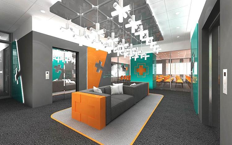 projekty wnętrz biurowych nowoczesnych design