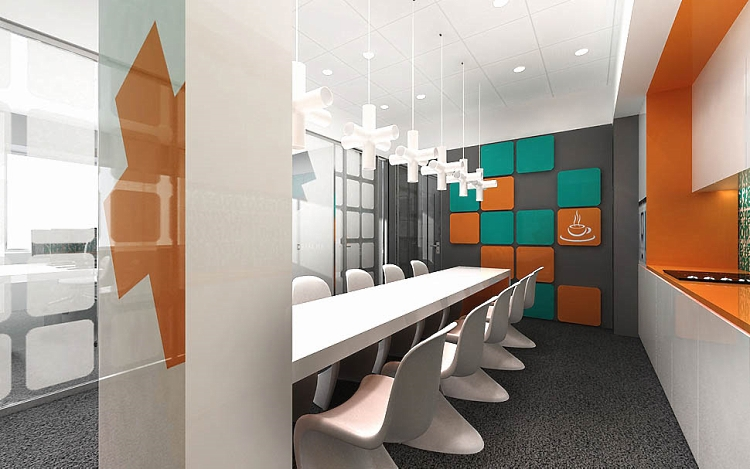 pomieszczenie socjalne w biurze projekt