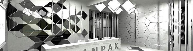 projekt wnętrz biurowych recepcja