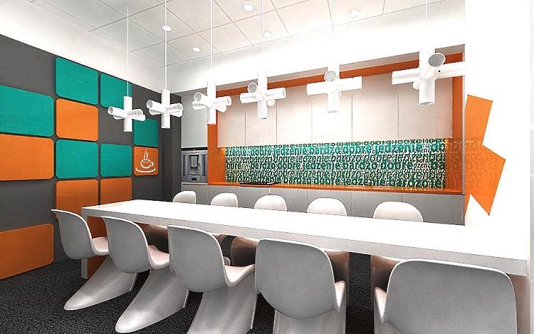 projekty wnętrz biurowych socjalnych w biurze