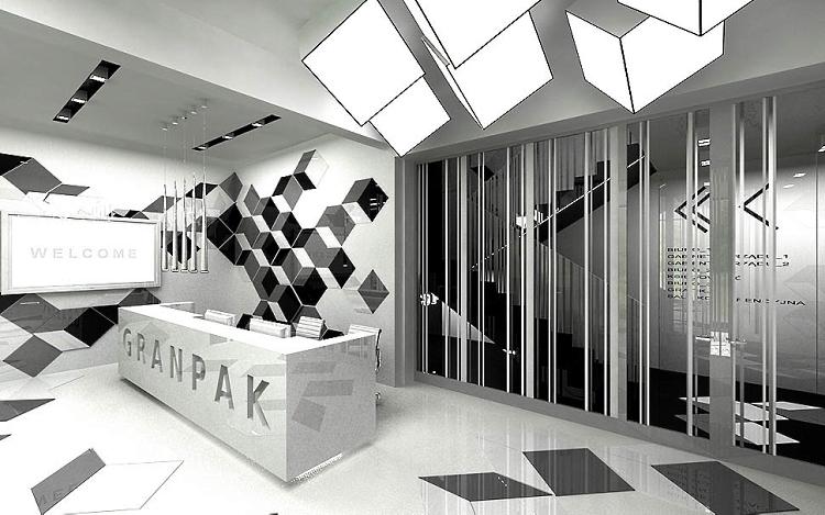 architektura biura design projekt recepcji