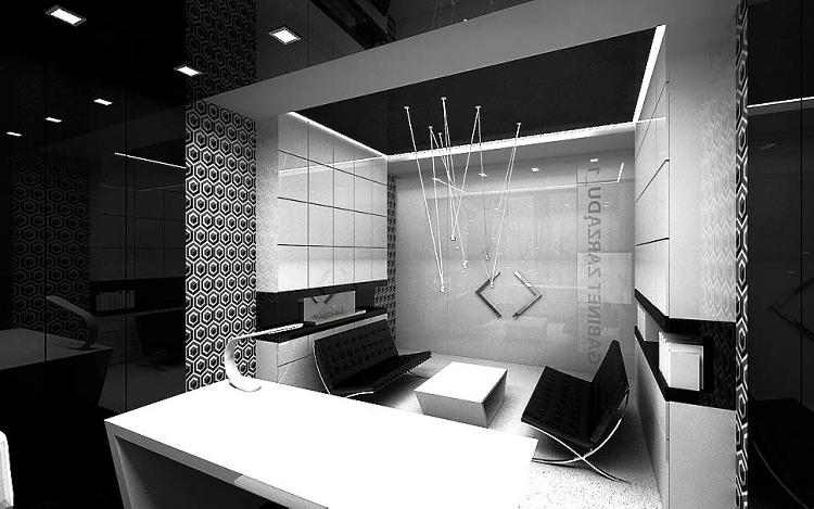 nowoczesny gabinet biurowy wnętrza