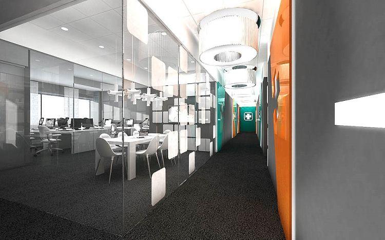 wnętrze biurowe design projekt