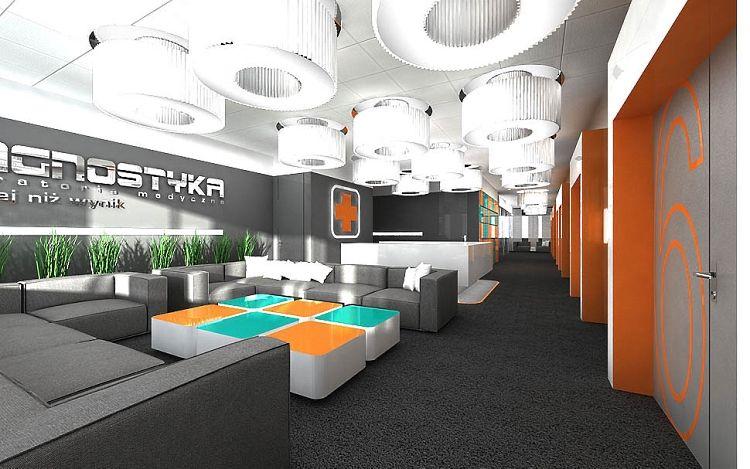 projekt wnętrz biura recepcji