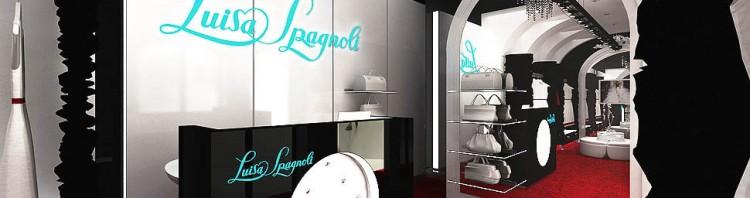 projekt wnetrz sklepu luksusowa ekskluzywna odzieza butik louisa spagnoli