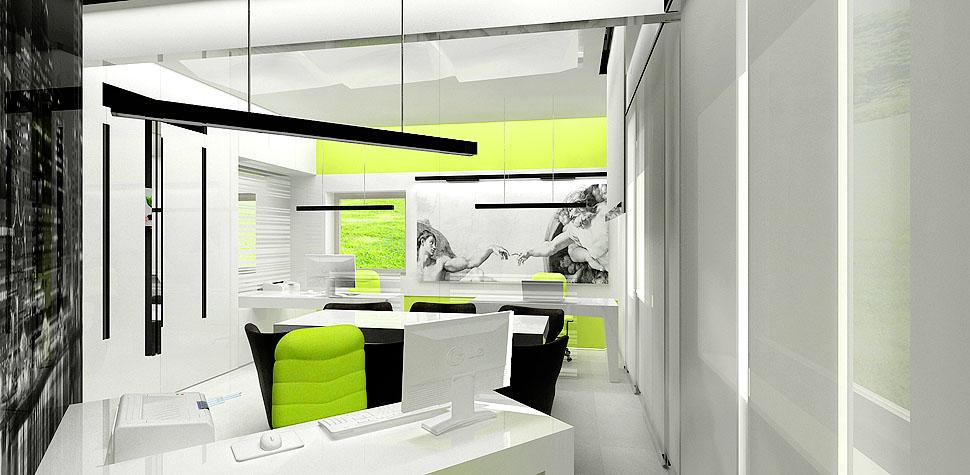 projekty wnetrz biurowych nowoczesnych
