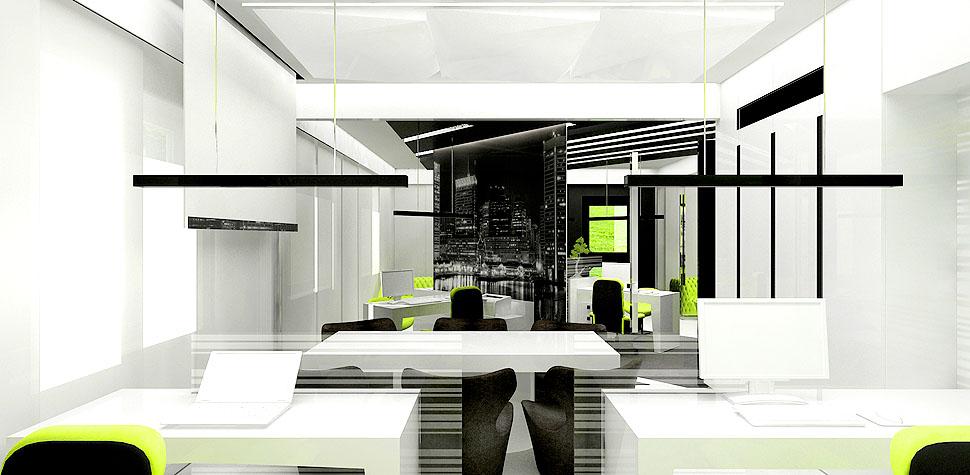 wnetrza biur projekty aranzacje design