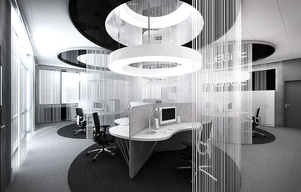 nowoczesne biuro projekt design