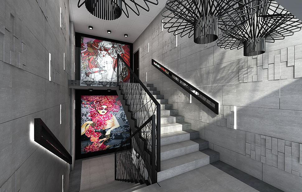 schody hol wnetrza reprezentacyjne projekt