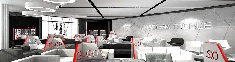 projekt wnetrz sala wystawowa meble