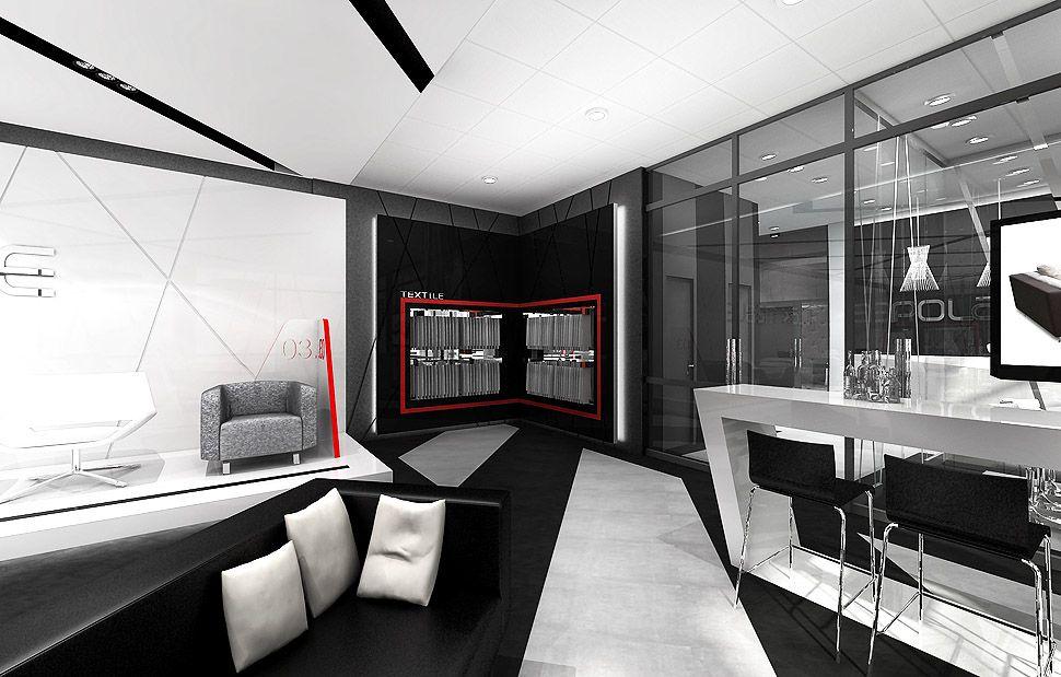 sala ekspozycyjna projekty wnetrza
